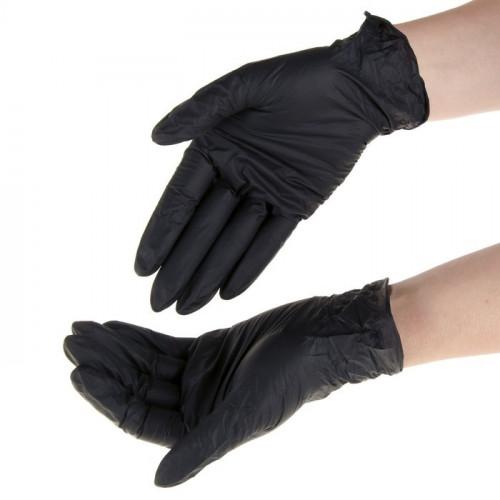 Перчатки нитриловые (размеры S, L) для защиты кожи рук от вирусов и бактерий (50 пар)