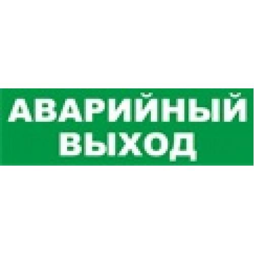 """Молния-12 ГРАНД световое табло """"Аварийный выход"""" зел.ф."""