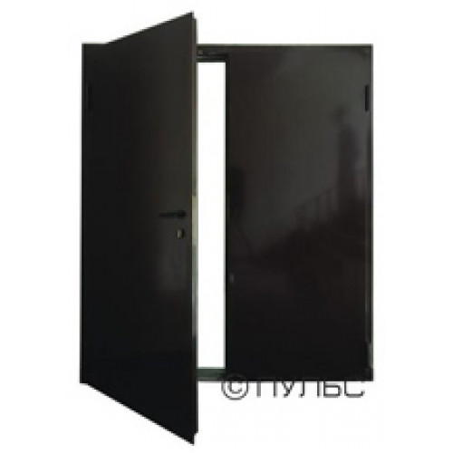 Дверь противопожарная ДПМ-02/60 (EI 60) двупольная, левая (рабочая створка 900 мм) 1250х2075 мм