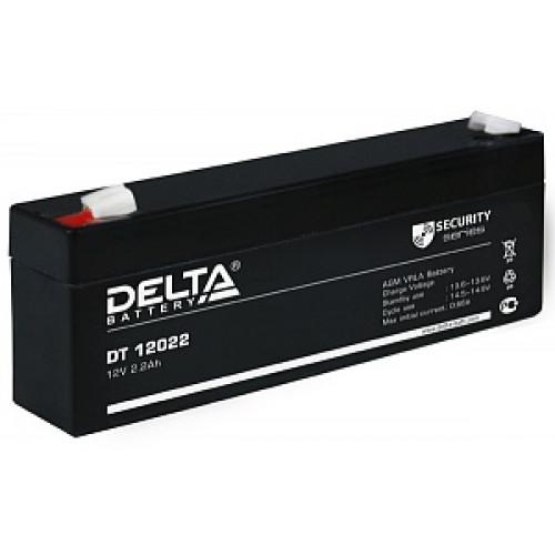 Аккумуляторная батарея Delta DT 12022 (12В 2,2Ач) 178х35х66 мм