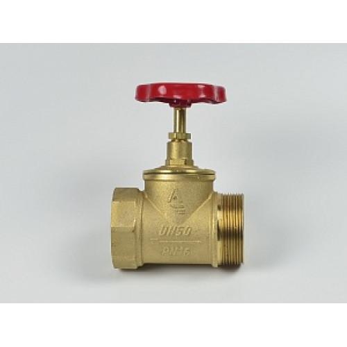 Клапан пожарный латунный КПЛП прямоточный (муфта-цапка) с датчиком положения