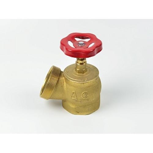 Клапан пожарный КПЛ угловой латунный 125° (муфта-цапка)