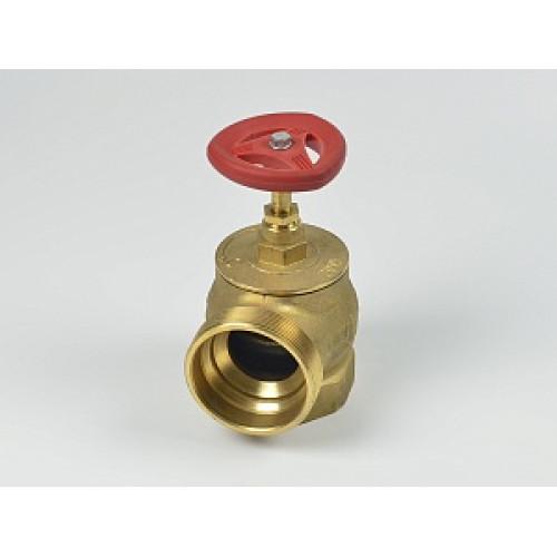 Клапан пожарный латунный КПЛМ угловой 90° (муфта-цапка) с датчиком положения