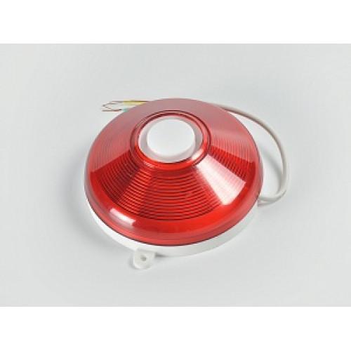 Комбинированный светозвуковой красно-белый оповещатель Гром-12КП