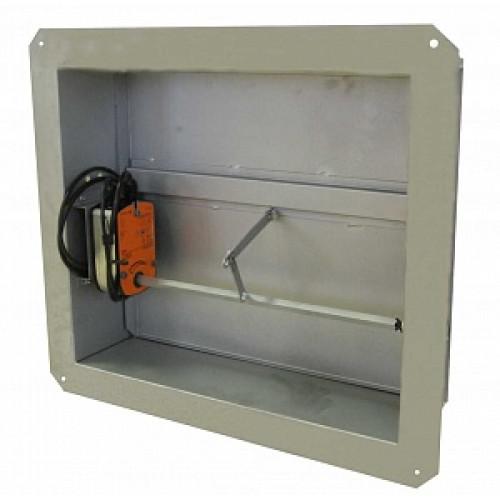 Клапан дымоудаления КДМ-2 с декоративной решеткой (700х500х165 мм)