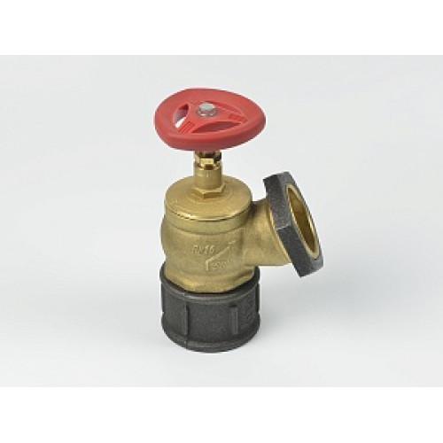 Клапан пожарный латунный КПЛ угловой 125° (цапка-цапка)