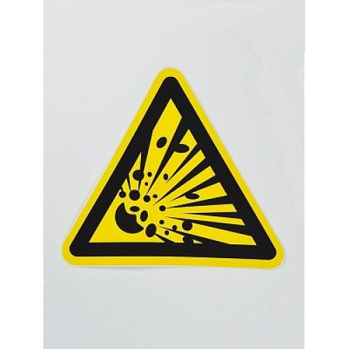 Знак 'Взрывооопасно' (ГОСТ Р 12.4.026-2001) 200х200х200 мм