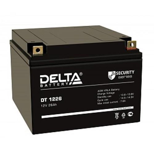 Аккумуляторная батарея Delta DT 1226 (12В 26Ач) 167х175х126 мм