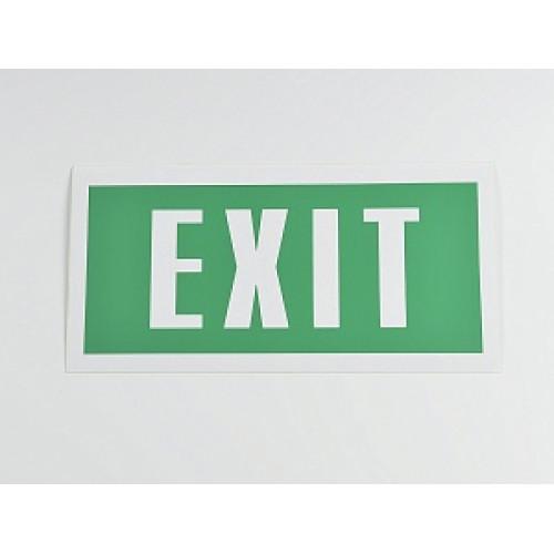 Знак 'Exit' 200х100 мм
