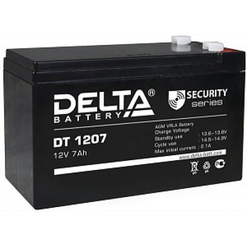 Аккумуляторная батарея Delta DT 1207 (12В 7Ач) 151х65х102 мм