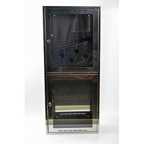 Шкаф пожарный из зеркальной нержавейки Престиж ШПК-320НО (навесной открытый)