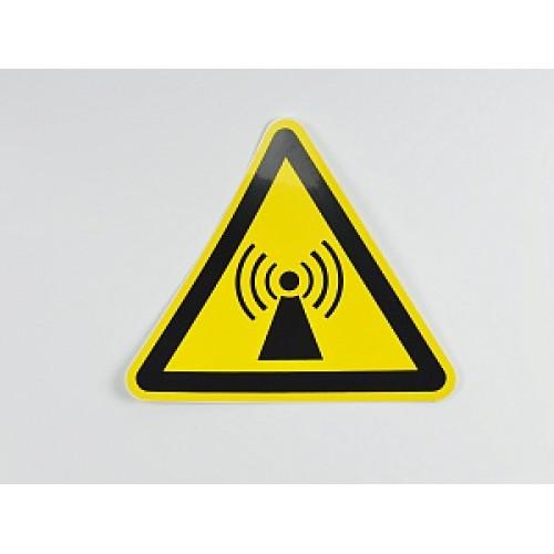 Знак 'Внимание. Электромагнитное поле' (ГОСТ Р 12.4.026-2001) 200х200х200 мм