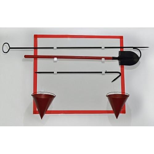 Щит пожарный металлический открытый (с комплектующими)