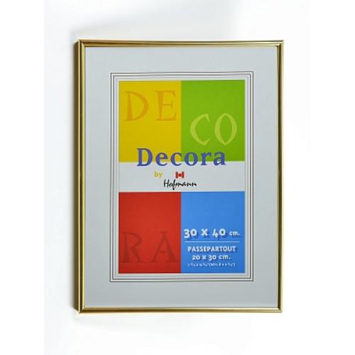 Рамка золотая пластиковая со стеклом (под план 30х40 см)