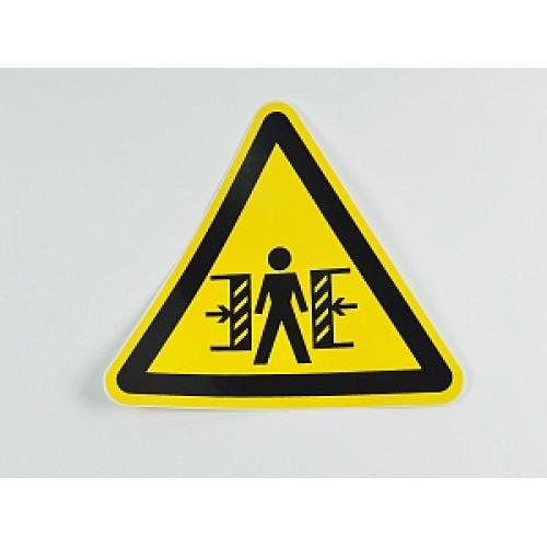 Знак 'Внимание. Опасность зажима' (ГОСТ Р 12.4.026-2001) 200х200х200 мм