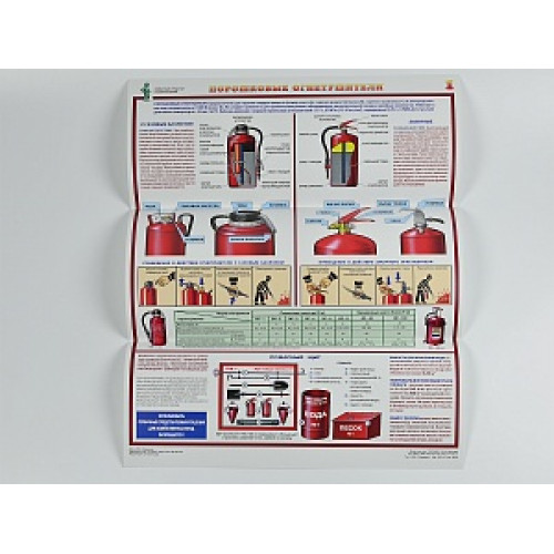 Комплект плакатов 'Первичные средства пожаротушения' (А2, 4 листа)