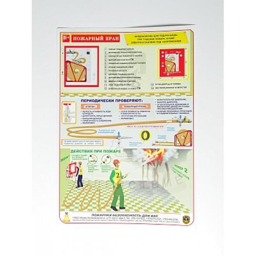 Плакат 'Пожарный кран' (А4, самоклеющийся)
