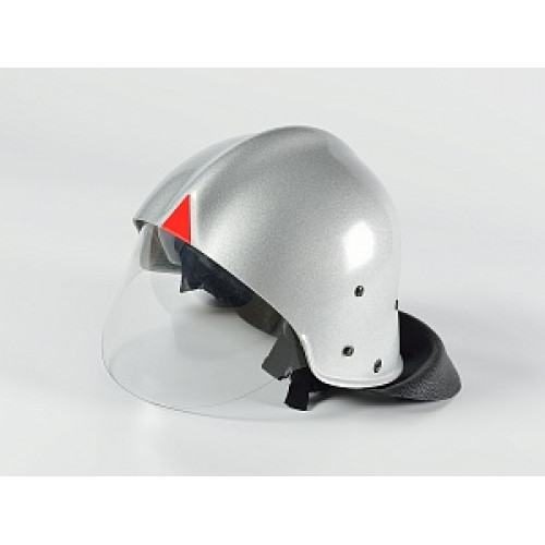 Каска пожарного КП-2002 (серебряная)