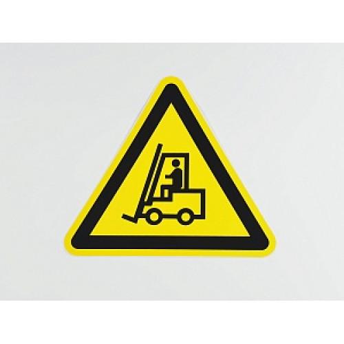 Знак 'Внимание. Автопогрузчик' (ГОСТ Р 12.4.026-2001) 200х200х200 мм