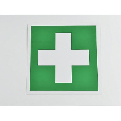 Знак 'Аптечка первой медицинской помощи'  200х200 мм